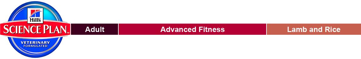Hills Science Plan Adult Advance Fitness Lam & Rice